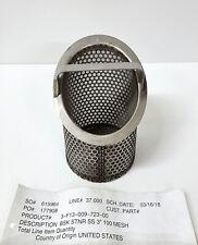 """Viking Pump Lid-Ease 3-F13-009-723 Strainer Basket, 3"""", 100 Mesh, 316 SS"""
