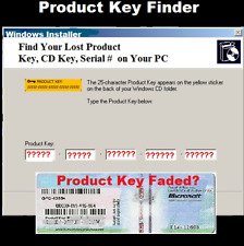Find Your Lost License Key Fast for Windows XP- 7- 8.1- 10 Software CD for PCs