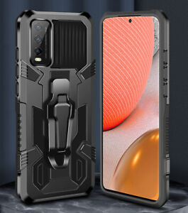 For VIVO Y11s Y20s Case Armor Clip Coque Funda Shockproof Heavy Duty Cover