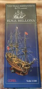 SM54 Corel HMS BELLONA 1780 74-gun 1:100 model ship kit plank on frame