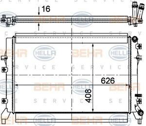 Radiator fits VW Golf Mark 6 / Mark 7 / Caddy  2008-13 MAHLE 8MK376764624