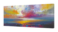 Scott Naismith - Uig Clouds - 50 x 100cm Canvas Print Wall Art WDC93190