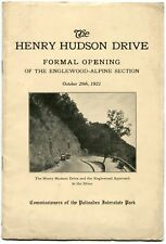 The Henry Hudson Drive Formal Opening Palisades Interstate Park 1921