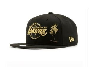 New Era Los Angeles Lakers Palm Tree NBA Champions GOLD Edition Snapback Hat
