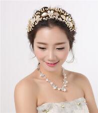 Gold Wedding Brides Headband Headpiece Tiara Rhinestone Bridal Hair Accessories