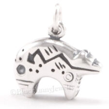 Native BEAR Charm American Indian Pendant HEARTLINE Southwest STERLING SILVER 3D