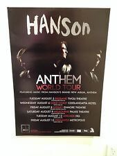 HANSON 2014 Australian Tour Poster A2 Anthem Middle Of Nowhere Shout It Out *NEW