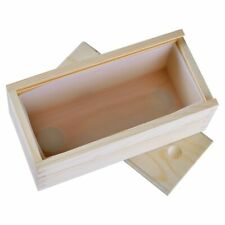 Silicone Soap Mould Rectangle Loaf Mold with Wooden Box DIY Handmade Soap Making