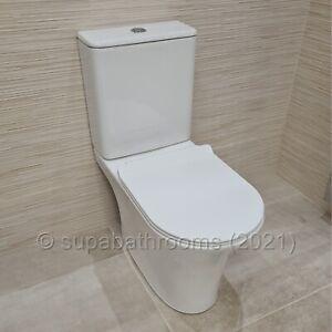 Torres Rimless Bathroom Toilet WC Seat Close/Coupled Ceramic Dual Flush