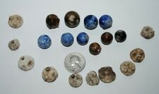***10 old German Bennington marbles and Firing Stands
