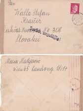 Austria  1942 from Wien to Slovakia with Service suspended cachet.