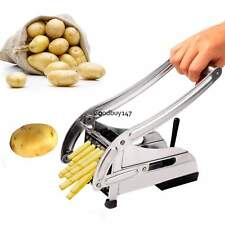 2 Blade French Fry Potato Chip Cut Cutter Vegetable Fruit Slicer Chopper Chipper