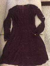 Juicy Couture Long Sleeve Lace Dress -- Plum Wine Color -- Size 0