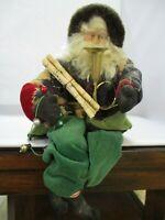 Vintage Christmas Santa, House of Hatten Old World  Santa Shelf Sitter
