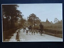 More details for fox hunt & hounds going to the meet c1929 rp postcard by judges 12218
