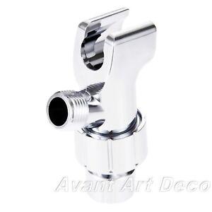 Universal Adjustable Shower Head Holder G1/2 Thread Arm Mounted No Screw Require