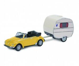 Schuco 26513 - 1/87 VW Coccinelle Avec Caravane - Neuf