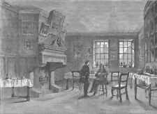 PATERNOSTER ROW. Dolly's coffee-House. London c1880 old antique print picture