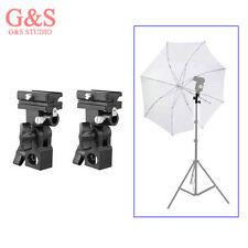2pcs Flash Shoe Umbrella Holder Swivel Light Stand Bracket B
