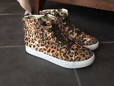 Michael Kors Glam Studded High Top Sneakers Leopard Gold Sz EUR 36