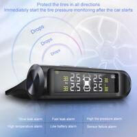 Solar TPMS Wireless Car Tire Pressure MonitorSystem HD Display+4 External Sensor