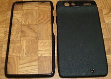 BLACK DESIGNER Rubber Feel Case Cover for Motorola Droid HD Razr XT910 XT912