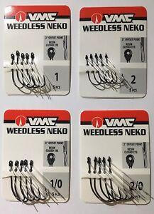 VMC Weedless Neko Hook Black Nickel 5 Pack - Choose Size FEDEX READ