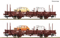 Roco 67086 HO Gauge RENFE Stake Wagon Set with Fiat 127 Load (2) IV