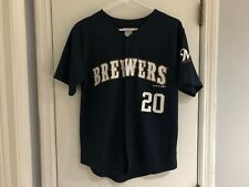 MILWAUKEE BREWERS JONATHAN LUCROY #20 BLUE JERSEY YOUTH L MLB FREE SHIPPING