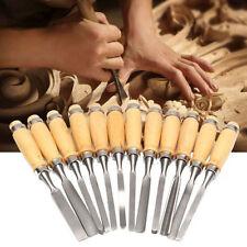 12PCS Wood Carving Hand Chisel Set Woodworking DIY Lathe Gouges Works Tools