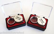 2 GOLIATH INDUSTRIAL JEWELERS LOUPE 21MM 30x MAGNIFIER LOOP MAGNIFYING GLASS