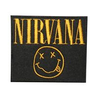 Nirvana Rock Music Band Logo Patch Iron On Patch Sew On Embroidered Patch