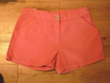 NEXT Girls Boys Textured Linen Blend Shorts Age 15 Years Coral