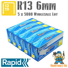 5 x 5000 Rapid R13 6mm Galvanised Steel Staples Bulk Pack for WHOLESALE