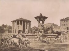 Italy Roma Vesta Temple Costantini Painter & Bruno Two Old Photos 1890