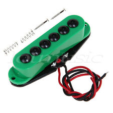 Electric Guitar Single Coil Pickup For Strat Invader Type Neck Green