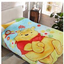 cute pooh bear coral fleece Bed blanket rug blankets 200x150CM warm soft new