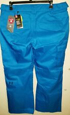 UNDER ARMOUR WATERPROOF WINDPROOF SNOWBOARD SKI PANTS MENS 2XL NWT $160 BLUE