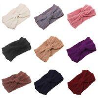 Crochet Knitted Braided Knit Wool Hat Cap Headband Hair Chic BandsWomens #G6A