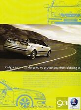 2006 2005 SAAB 9-3 93 Convertible - Original Advertisement Print Art Car Ad J641