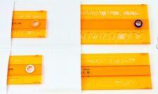 Rotring Technical Lettering Stencil Set 4 CURSIVE Italic 2.5, 3.5, 5 & 7mm NEW