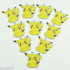 Lot Wholesale 10pcs Pokemon Pikachu Metal Charm Pendants for Jewerly Making Key