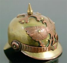 Poilu Casque à Pointe Allemand Miniature German Helmet Trench Art WW1 WWI French