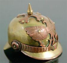 Poilu Casque à Pointe Allemand Miniature German Helmet Trench Art WW1 WWI French
