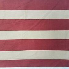 Portfolio Textiles Up Teflon Burgundy Tan Striped Drapery Upholstery Fabric 3 YD