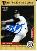 Jim Palmer Baltimore Orioles 2020 Topps Now Turn Back the Clock Signed Card