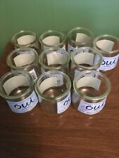 10 Oui Yogurt Jars Craft Supplies Votive Candle Holder Crafts DIY With Labels