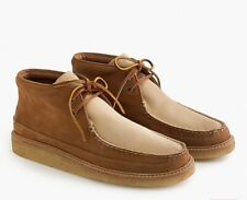 NIB Sperry for JCREW crepe soled leather chukka Mens boots tan stone size 8M