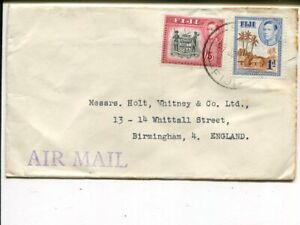 Fiji air mail cover to England, year unclear