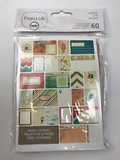 NEW Project Life Becky Higgins 60 Themed Cards Summer Double Sided Scrapbooking